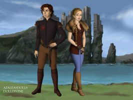 Hiccup and Astrid by Kailie2122