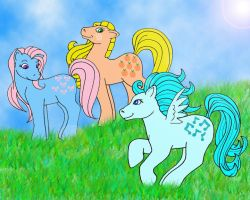Year Two My Little Ponies by marienoire