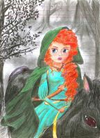 Merida, Seeking Freedom by BrainlessGenie