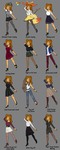 Autumn's Outfits 1 by PegasusJedi