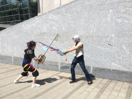 Keyblade Brothers Sparing by xenomorph2014