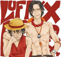 Luffy x Ace LOL by Spartichi