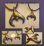 Goblin King pendants by Hedgehogscanfly