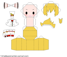 Super Hero Len Papercraft by Tamuu-ii