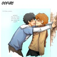 Oofuri - kiss plz by Limebro