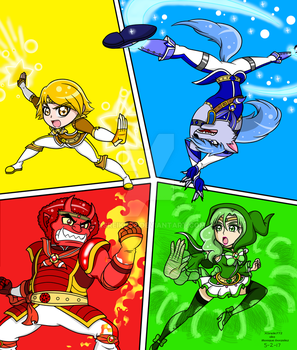 Marchen Knight Precure: elemental attacks by XSreiki772