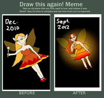 Draw it Again Meme: Fire Fairy by youvegottocarpediem