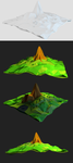 Low poly mountains by art3h