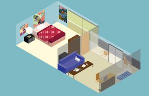 Isometric of my Apartmento by al3map2