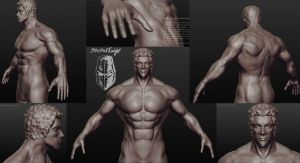 Raoh Sculptris Wip by SpectralKnight