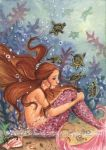 ACEO Mermaid and Baby Turtles by JoannaBromley