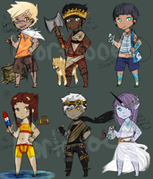 Human Themed Adopts (4/6 OPEN) by mortoboe
