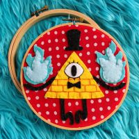 Bill Cipher hoop by loveandasandwich