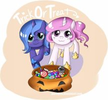 Trick or Treat - Tia + Luna by Musapan