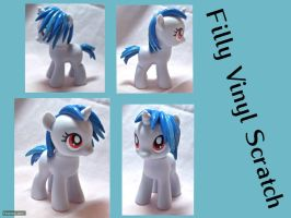 Filly Vinyl Scratch Custom by CadmiumCrab