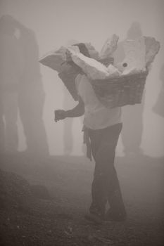 Sulphur Miners at Mount Ijen by swatpup6433