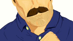 Tom Selleck's Mustache Sketch by theINAshow