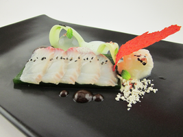 Red Snapper- Sashimi, Traditional Accompaniments 2 by TheSilverChef