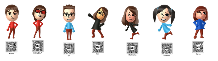 Karen and Friends-Characters + qr codes by Sarahinc