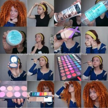 Princess Merida Natural Look Tutorial by shua-cosplay