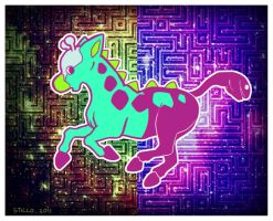 Psychedelic Girafarig by CSticco