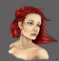 Red Haired Girl by Teffy