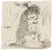 The Croods - Happy little toddler Guy by anla