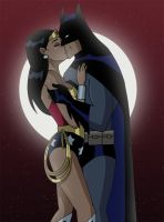 Batman Kisses Wonder Woman by Glee-chan