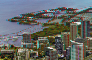East and West Island 3D HDR by Raw Anaglyph Stereo by zour