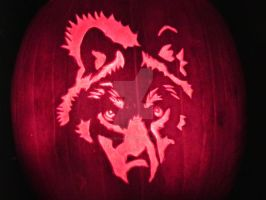 Wolf Pumpkin Carving by DarkArtDesigns