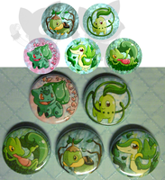 Grass starter buttons by NinjaKitten22
