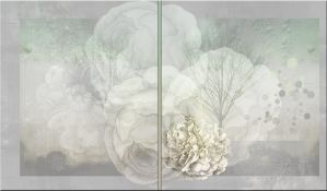 GREY FLOWER PREMADE BACKGROUND by VaL-DeViAnT