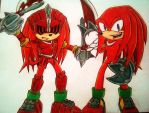 Request_2 Sides of Knuckles by Sky-The-Echidna