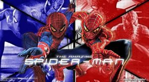 The Amazing Spiderman and Spiderman Wallpaper by Timetravel6000v2