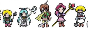 Golden Sun Characters by harle-shiru