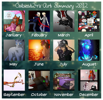 Art Summary 2012 by ColacatintheHat