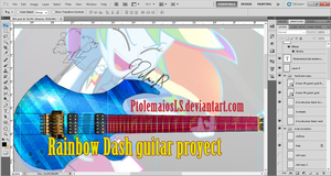 RD Custom guitar, design stage WIP 02 by PtolemaiosLS