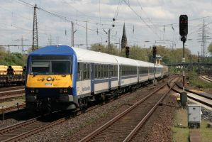 Regional train working in long-distance service by Budeltier