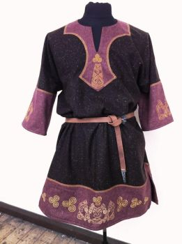 Celtic Tunic Red Brown by RobynGoodfellow