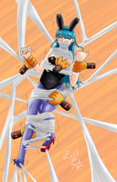 Bulma Vs Red Ribbon Silk Hands by Lady-of-Mud