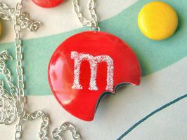 Red mm Necklace by Madizzo