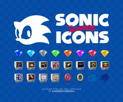 Sonic the Hedgehog Icons by sandrodcpereira
