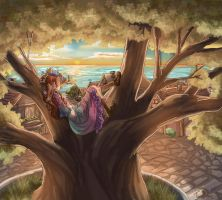 Sunset in Fairy Oak, Vanilla by Dralamy