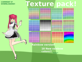 Texture pack! (Download) RAINBOW VERSION! by Rozala
