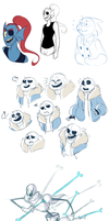undertale doodles by classydove