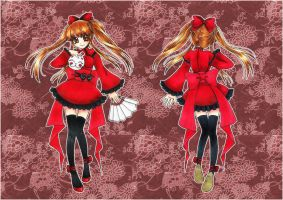 :: Red Alice - oriental outfit design :: by oliko