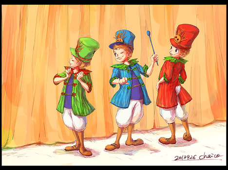Little Three Caballeros by chacckco