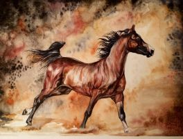 Closing In... +watercolor+ by Fire-n-ash