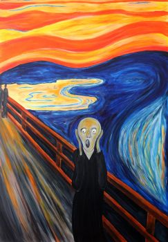 Munch Scream/ acrylic reproduction by Anmaz