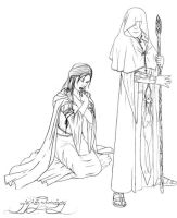 And Luthien sang to Mandos by GustavoMalek